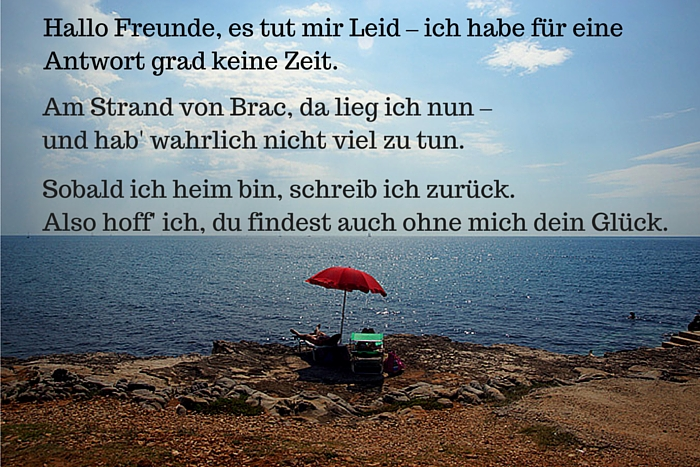 Out of Office-Gedicht