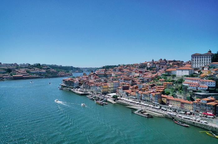 Aussicht-Brücke-Porto