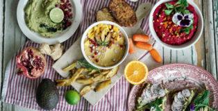 Humus-Gerichte