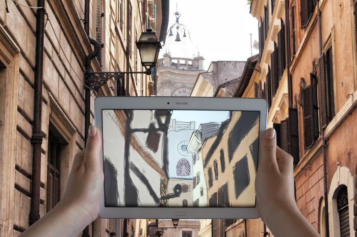 Straßen-in-Rom-