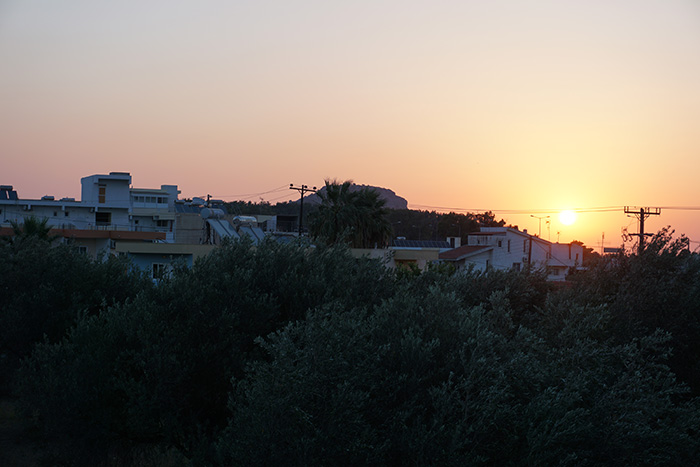 Afandou-Sonnenaufgang