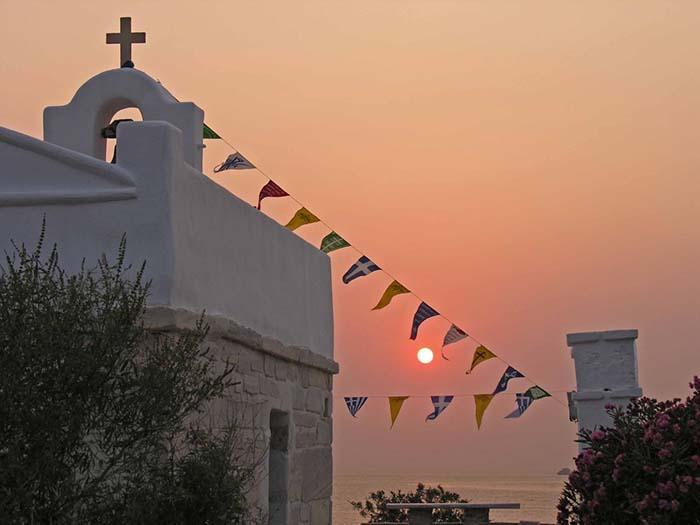 Urlaub auf Paros Sonnenuntrergang