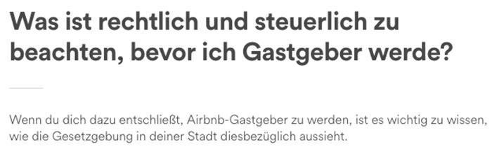 Airbnb-Gesetzeslage