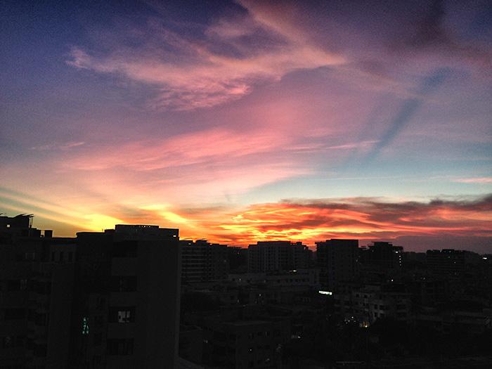 Dhaka Sightseeing-Sonnenuntergang