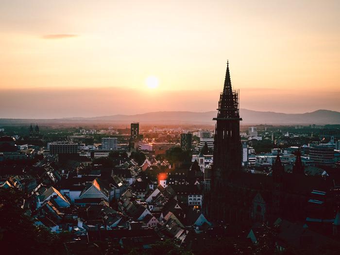 Freiburg-Sonneuntergang