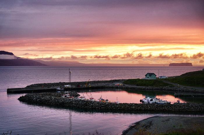 Hofsos-Sonnenuntergang