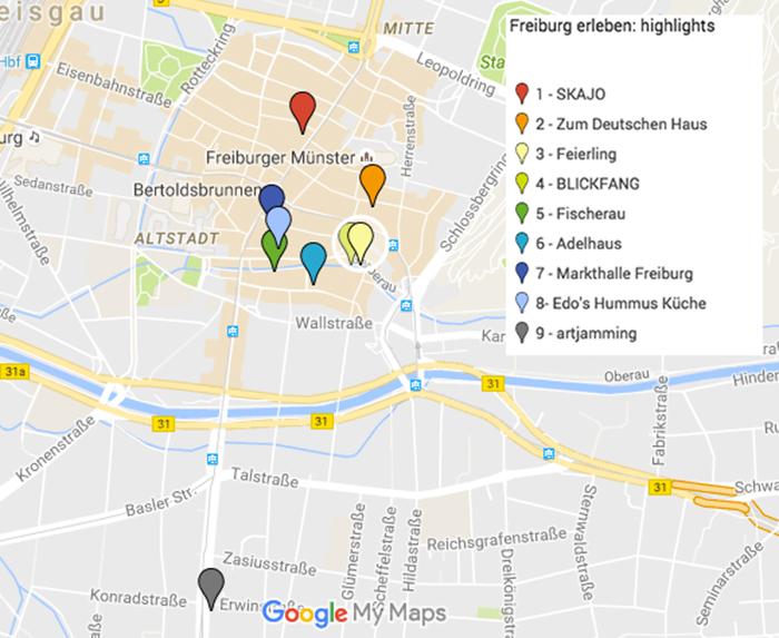 Karte-Freiburg erleben-Highlights
