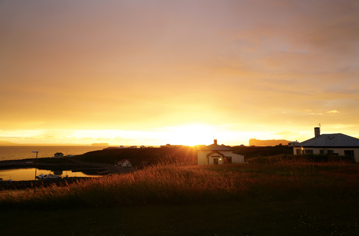 Sonnenuntergang-Island