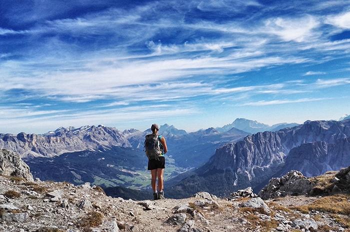 Wanderungen in den Bergen