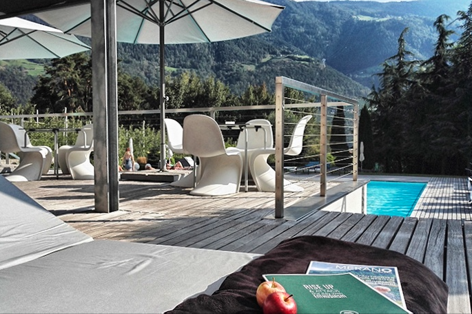 Meraner land in s dtirol mediterranes klima und grandiose for Design hotel tirol