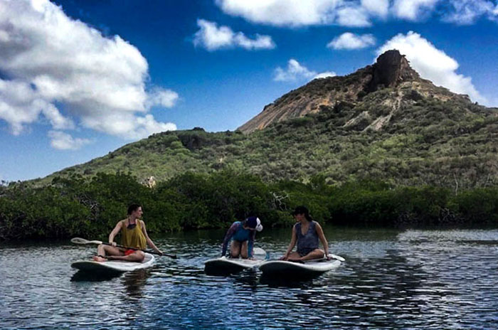 Stand Up Paddling auf Curacao