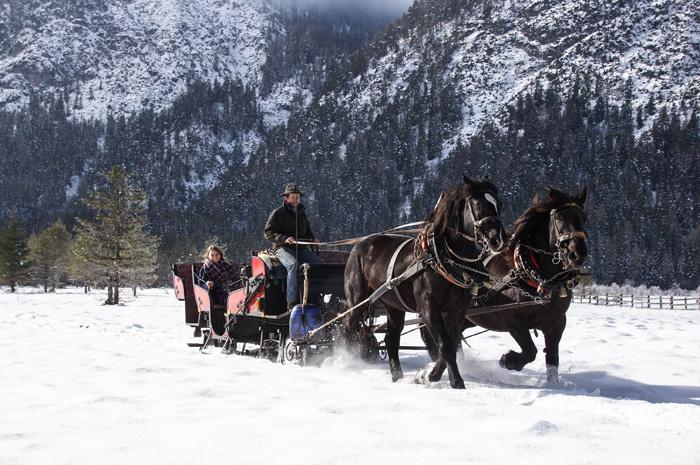 Dolomitenregion Drei Zinnen_Pferdeschlittenfahrt im Winter