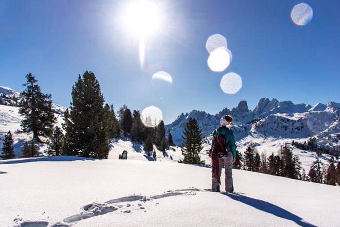 Dolomitenregion Drei Zinnen Winterwanderung