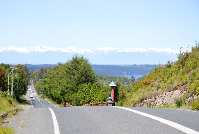 Chiloé Reisetipps-Blick auf die Bergkette