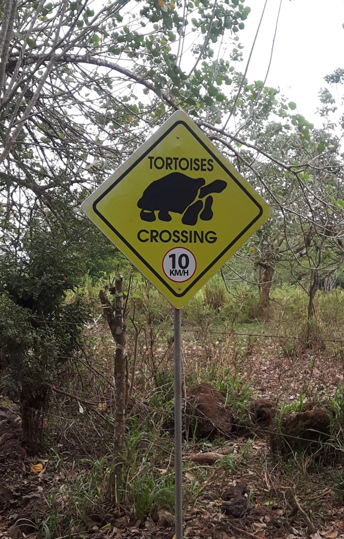 Galapagosinseln günstig bereisen-Schild