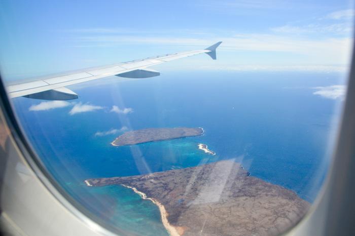 Galapagosinseln günstig bereisen-Anflug
