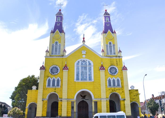 Chiloé Reisetipps-Holzkirche Castro