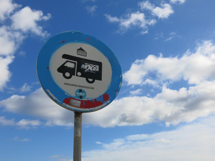 Roadtrip Atlantikküste Spanien Portugal-Schild