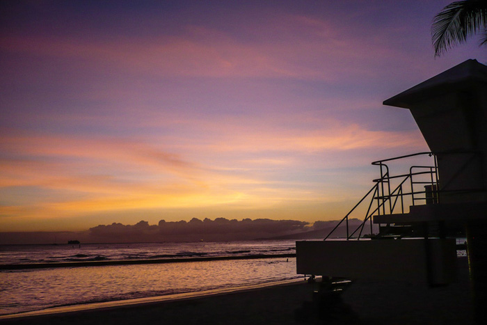 Hawaii Inselhopping Reisebericht-Waikiki Sunset