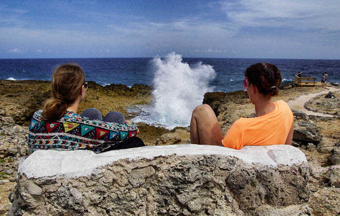Boca Pistol - Naturschauspiel im Curacao Urlaub