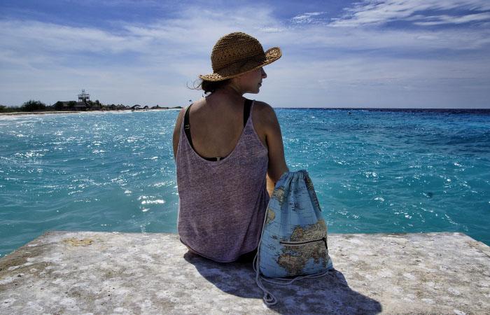 Türkisblaues Wasser auf Klein Curacao