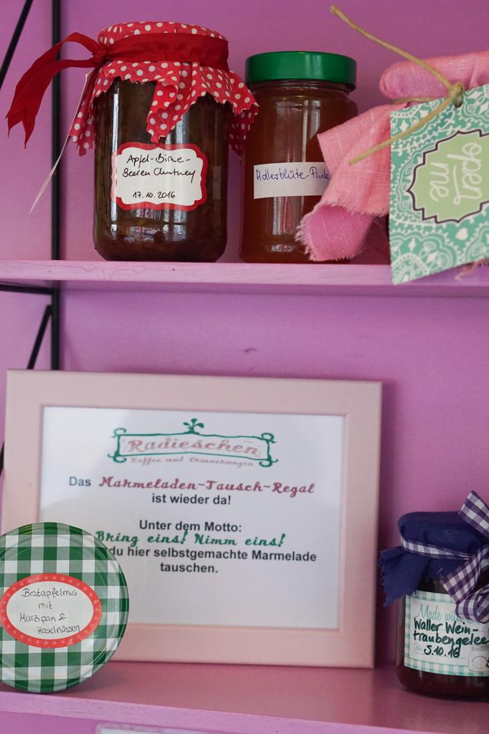 Marmeladen Tausch Regal