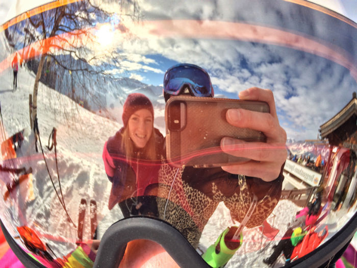 Selfie in Skibrille