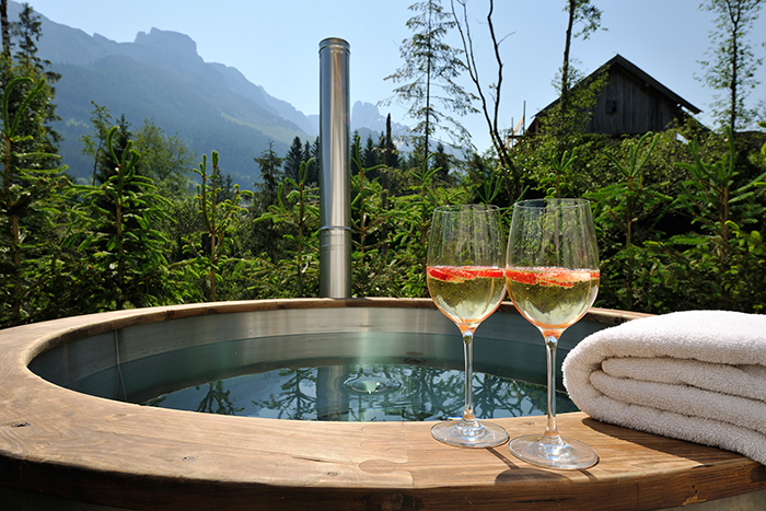 Hot Tub der Annaberg Luxuslodge