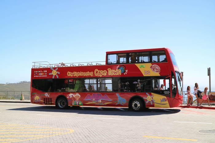 Die rote Buslinie durch Kapstadt