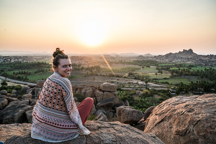 Christine Neder in Hampi