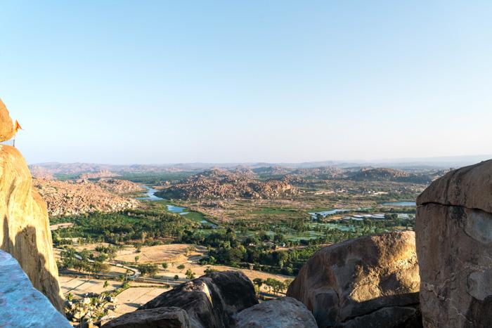 Panoramablick über Hampi