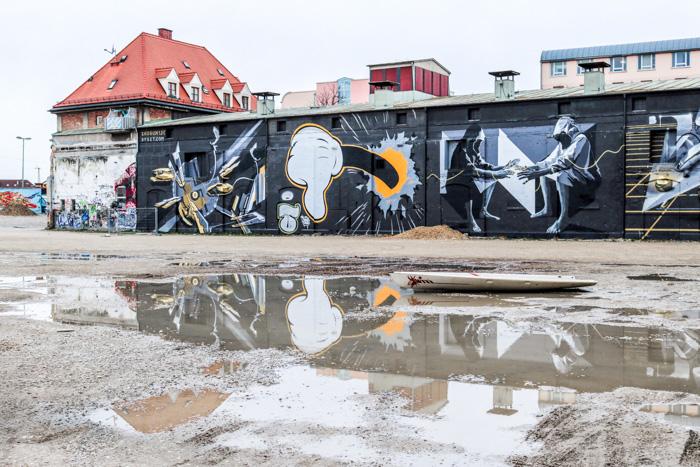 Graffiti und Street Art beim Bahnwaerter Thiel