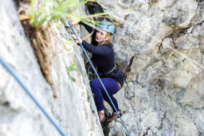 Gesa klettert in Osttirol