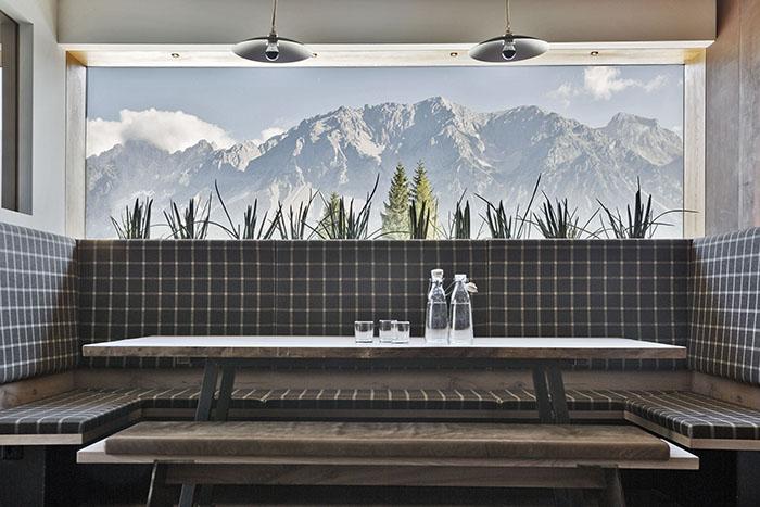 Blick aus dem Restaurant des Hotel Arx