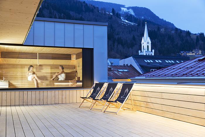 Die herrliche Panoramasauna des Hotel Brunner