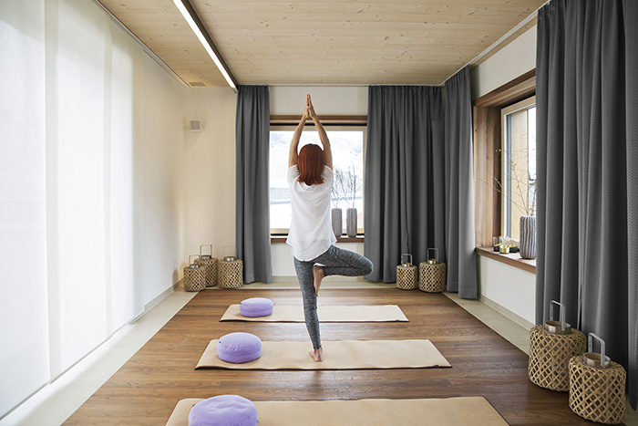 Yoga-Stunde im Hotel Brunner