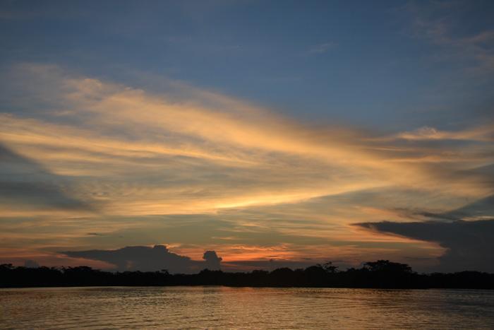 Sonnenuntergang II Cuyabeno Reservat
