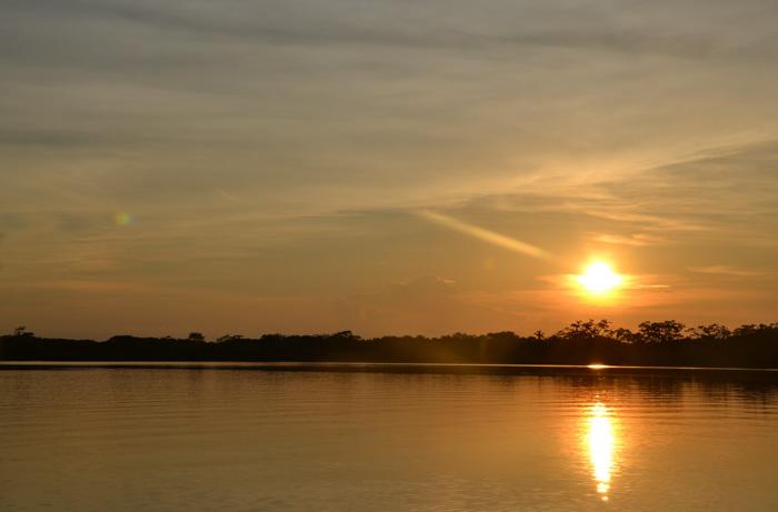 Sonnenuntergang Laguna Grande