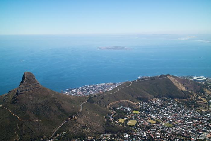 Kapstadt von oben sieht ziemlich gut aus oder?