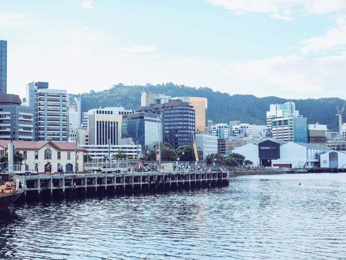 Der Hafen von Wellington