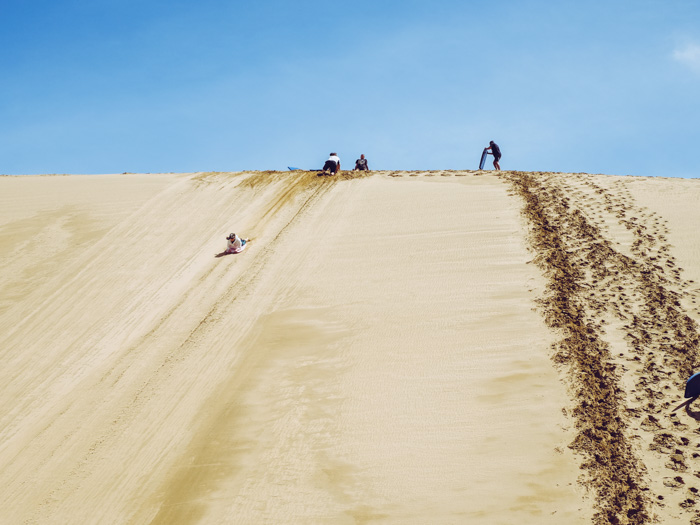 Sandboarding in Neuseeland
