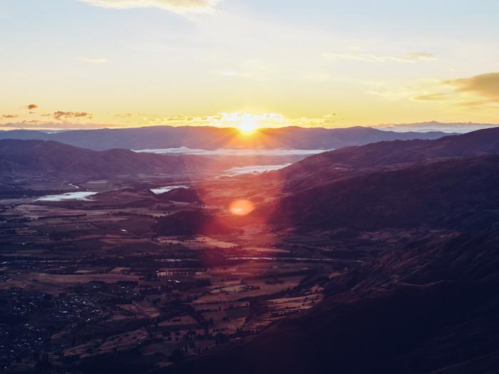 Wandern und Sonnenuntergang gucken in Roys Peak