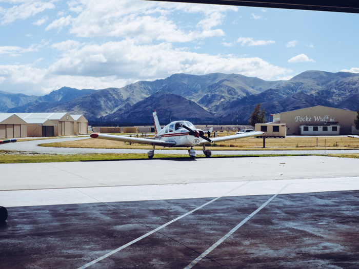 Flugzeug fliegen in Wanaka Neuseeland