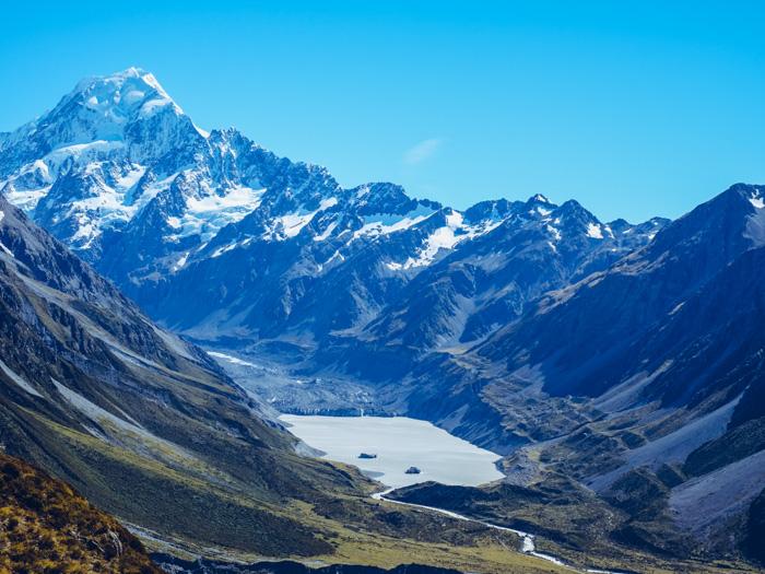 Wanderung zum Hooker Valley New Zealand