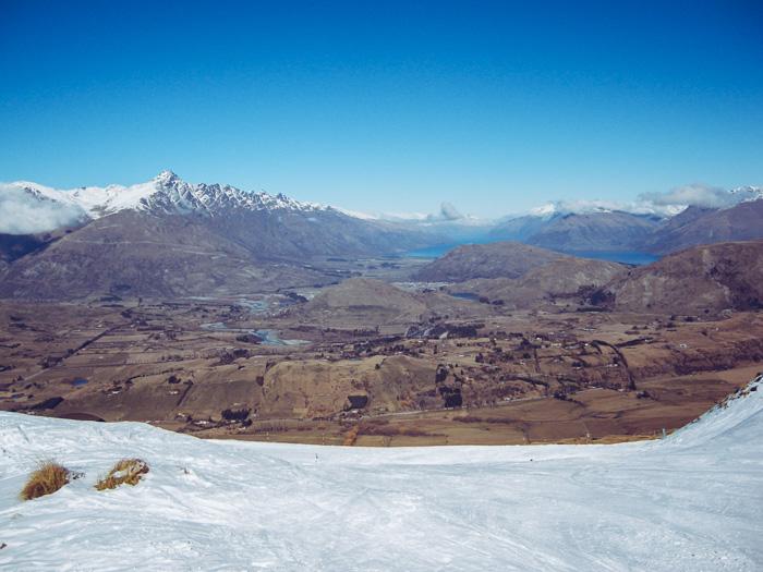 Skifahren am Coronet Peak in Neuseeland