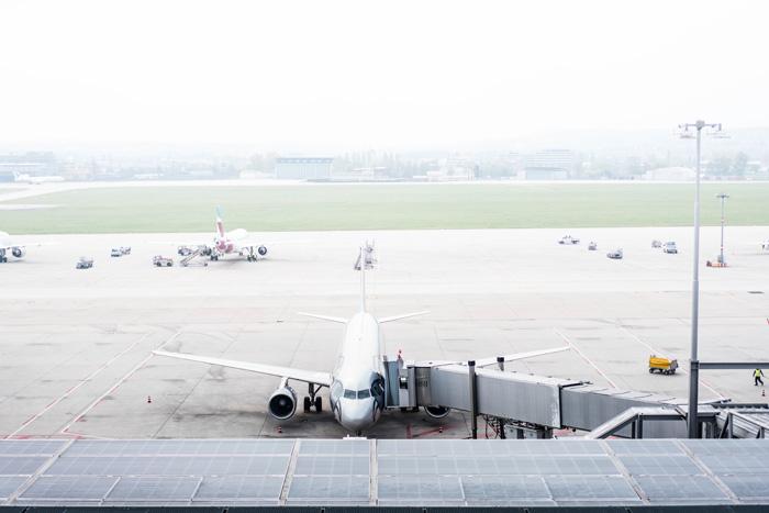 Das Rollfeld des Flughafen Stuttgart