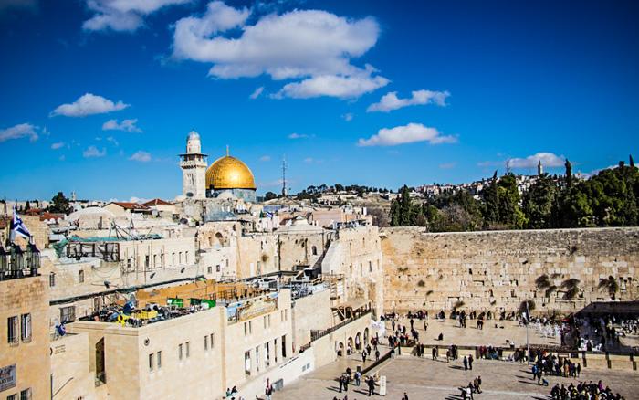 Blick auf die Klagemauer in Jerusalem