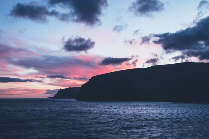 Sonnenuntergang auf der Insel La Gomera
