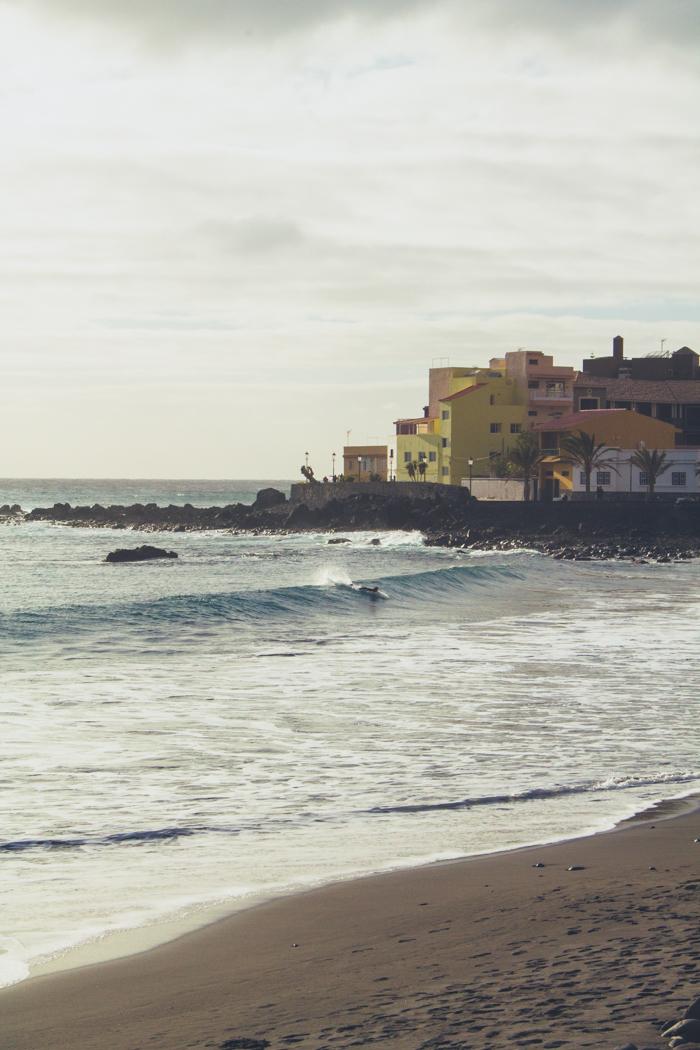 Surfer in Valle Gran Rey auf La Gomera.