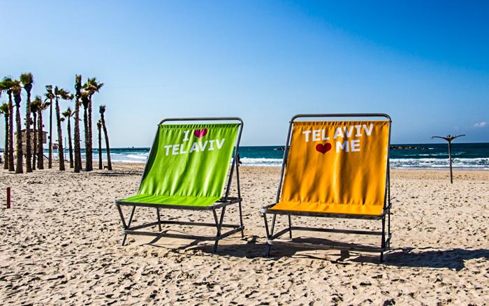 Die Strandpromenade in Tel Aviv